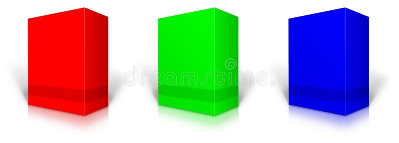 Einzelhandels-Produktpaket RGB-freien Raumes lizenzfreie abbildung