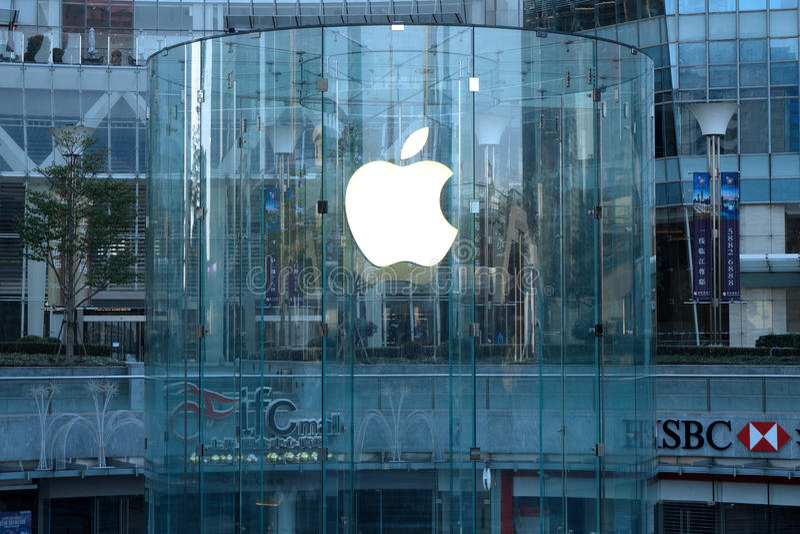 Einzelhandelsgeschäft Apples in Shanghai-lujiazui lizenzfreies stockbild