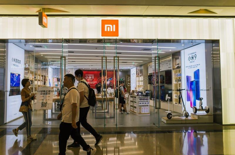 Einzelhandelsgeschäft Xiaomi in Chengdu lizenzfreies stockbild