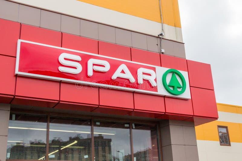Einzelhandelskettenlogo des SPAR-Supermarktes lizenzfreies stockfoto