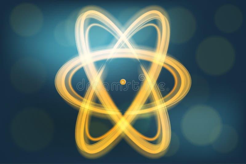Einzelne Atomillustration lizenzfreie abbildung