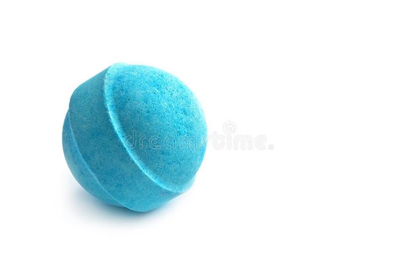 Einzelne blaue Badbombe lizenzfreies stockbild
