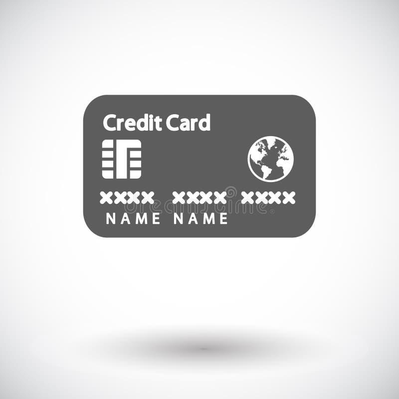 Download Einzelne Flache Ikone Der Kreditkarte Vektor Abbildung - Illustration von kauf, abbildung: 90231076