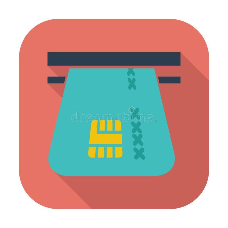 Download Einzelne Flache Ikone Der Kreditkarte Vektor Abbildung - Illustration von flach, nachricht: 90231936