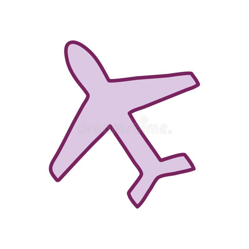 Einzelne Fluglinie und Füllstil-Symbolvektordesign vektor abbildung