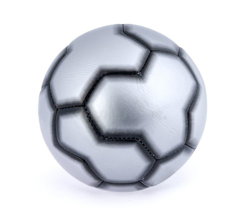 Einzelne Fußballkugel stockbild