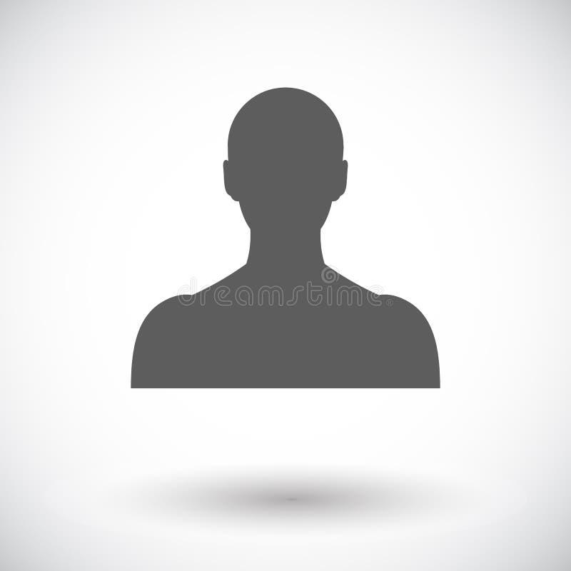 Einzelne Ikone der Person lizenzfreie abbildung