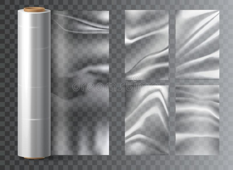 Einzelne Kunststoffverpackung aus Polyethylen stock abbildung