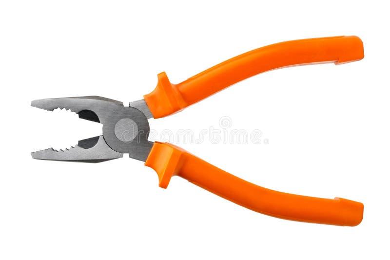 Einzelne orange Zangen stockfotos