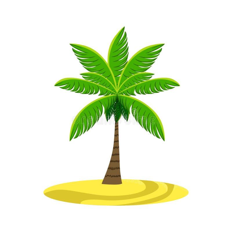 Einzelne Palme auf dem Strand vektor abbildung