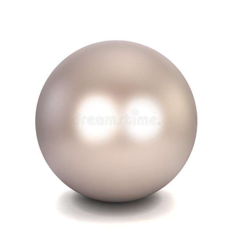 Einzelne Perle lizenzfreie abbildung