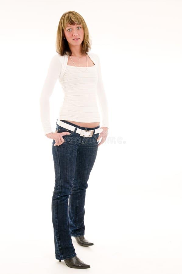 Einzelne Stillstandfrau lizenzfreie stockbilder