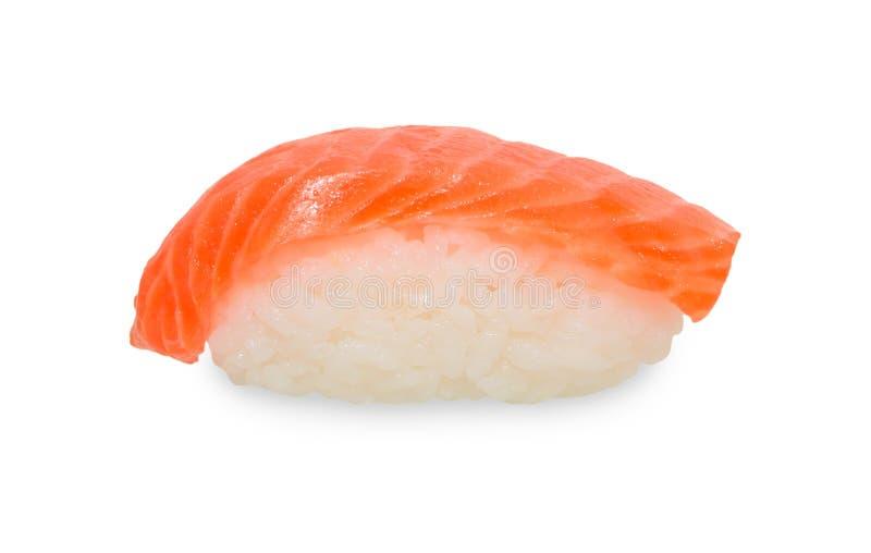 Einzelne Sushi auf Weiß lizenzfreie stockfotografie