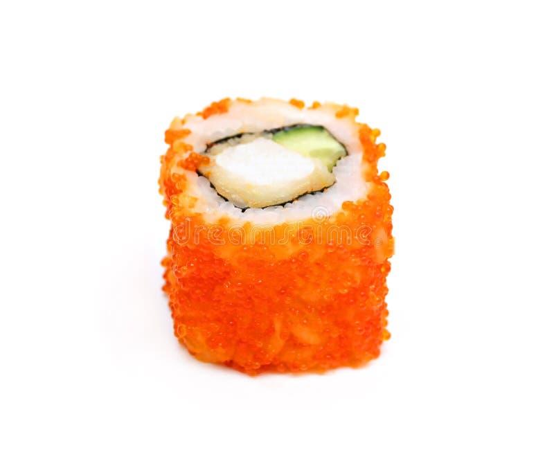 Einzelne traditionelle Japan-Sushirolle stockfoto