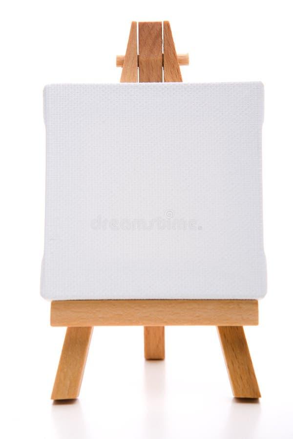 Einzelne weiße Malleinwand lizenzfreie stockbilder