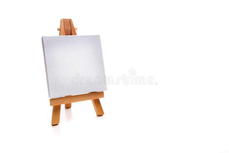 Einzelne weiße Malleinwand stockbilder