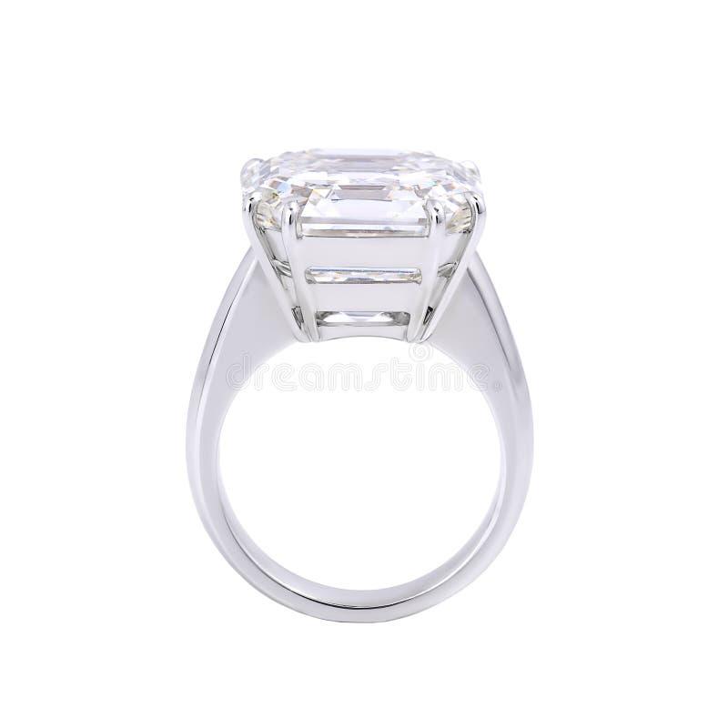 Einzelner Diamantring. stockbild