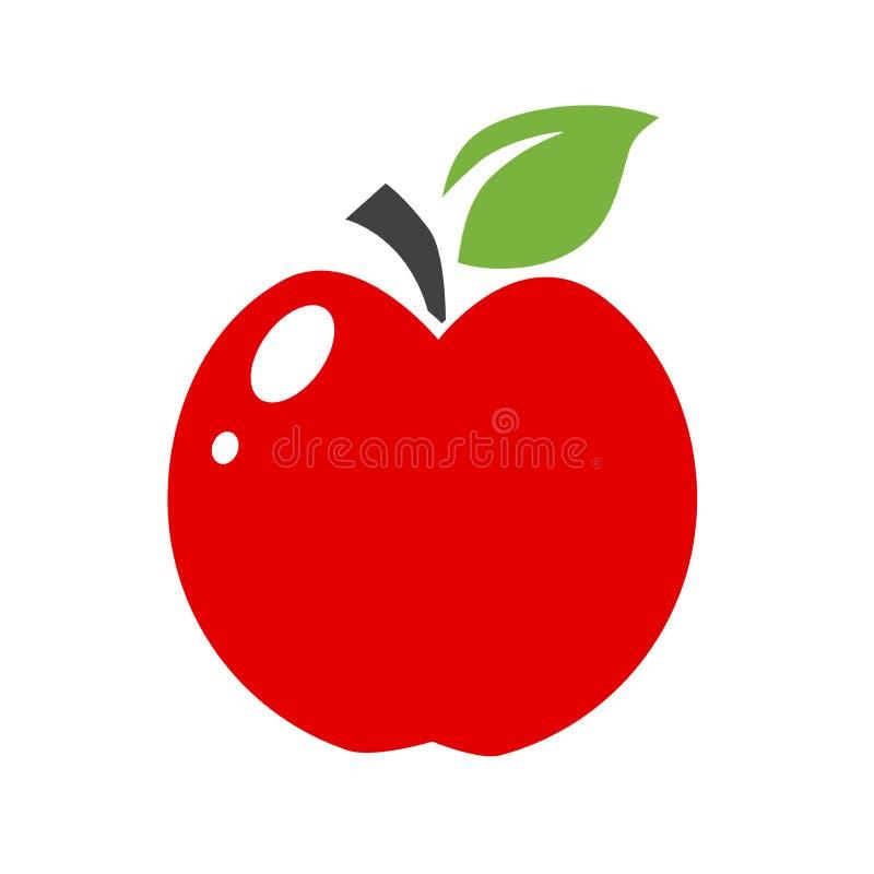 Einzelner einfacher Apfel lizenzfreie stockfotografie