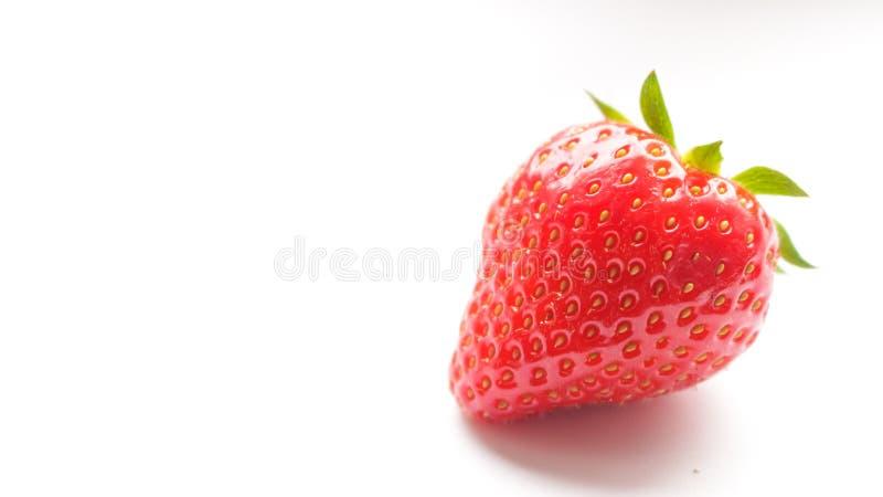 Einzelner Erdbeerabschluß oben stockbild