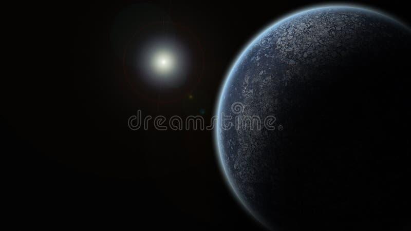 Einzelner Planet stockfoto