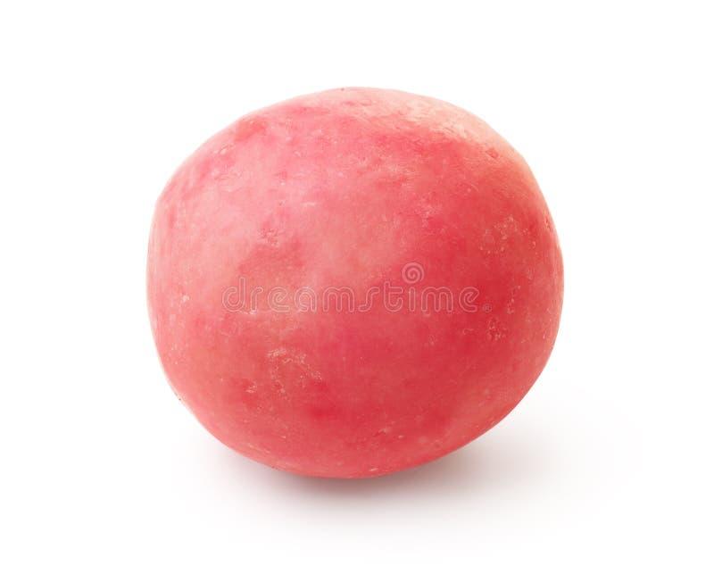 Einzelner rosa Kaugummiball stockbilder