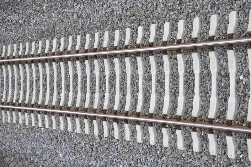 Einzelner Schienenstrang stockfoto