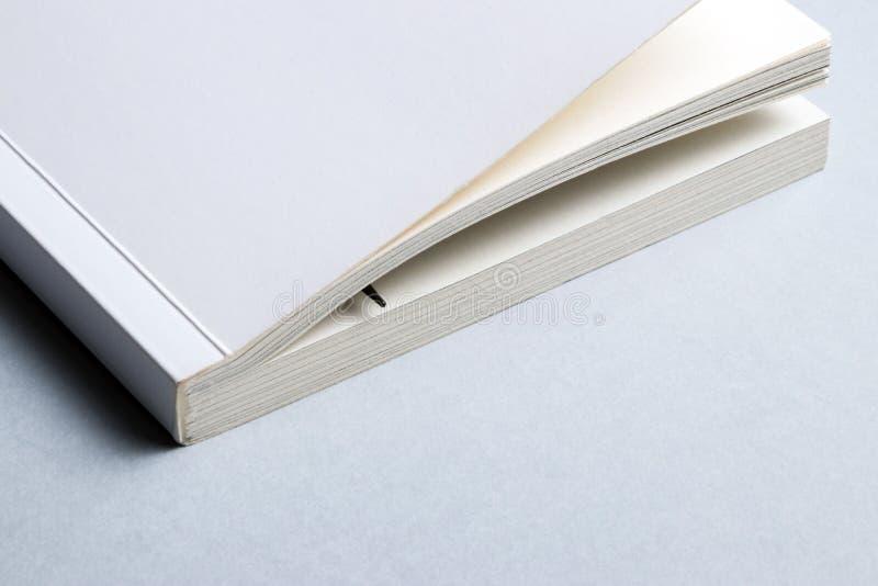 Einzelner Weißbuch oder Notizbuch mit Stift für Anmerkungen stockbilder