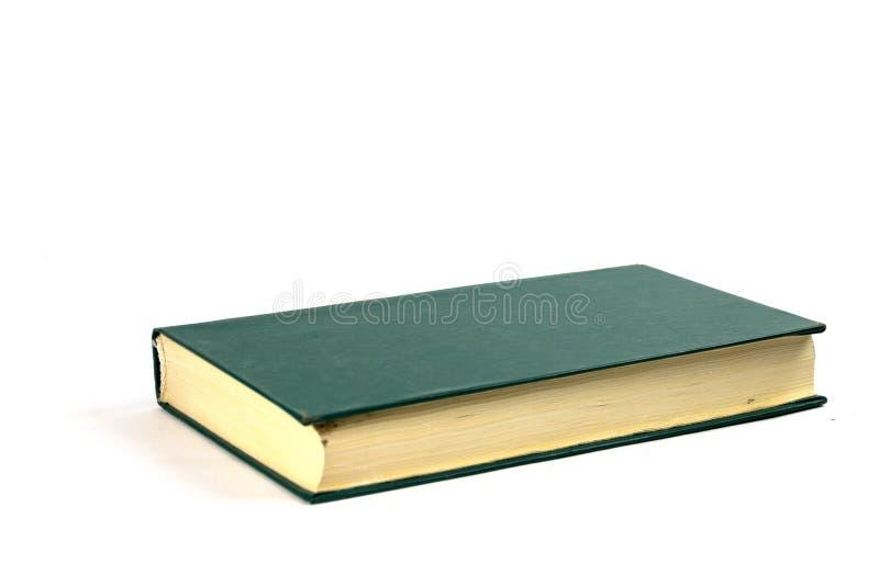 Einzelnes altes Grünbuch des festen Einbands lokalisiert lizenzfreie stockfotos