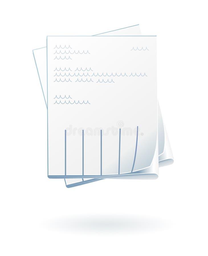 Einzelnes Bekanntmachen auf Blatt stock abbildung