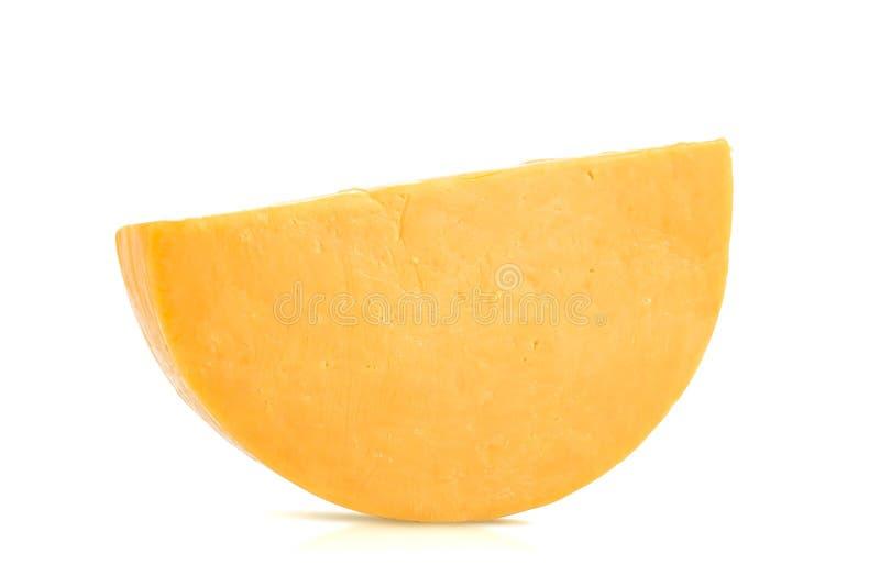 Einzelnes halbes Rad von Colby Cheese lizenzfreie stockbilder