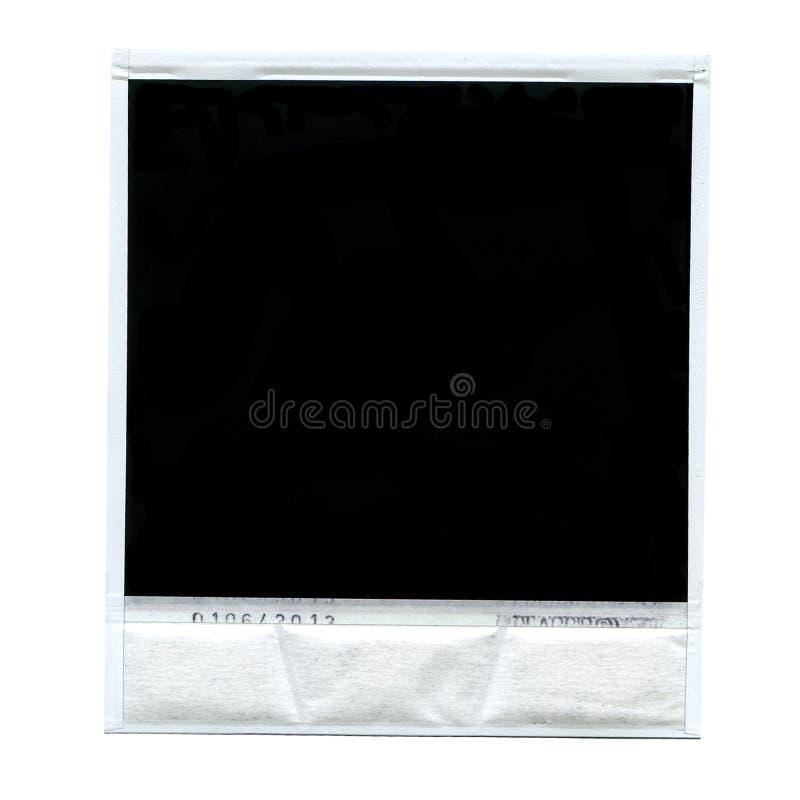 Einzelnes Polaroid getrennt lizenzfreies stockfoto