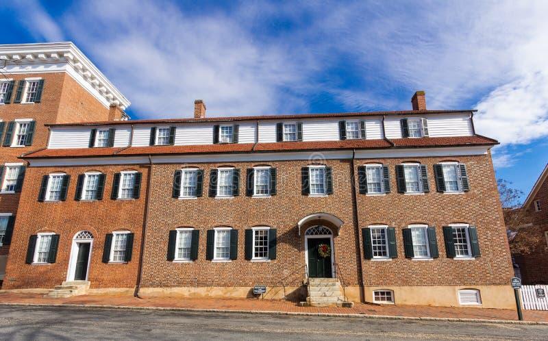 Einzelnes Schwester-Haus bei Salem College lizenzfreie stockfotos
