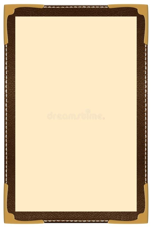 Einzelnes Seiten-Menü stock abbildung