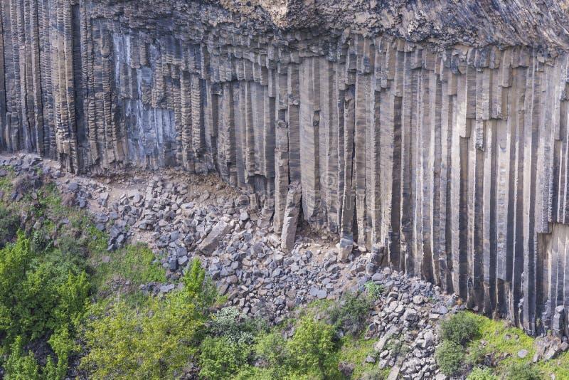 Einzigartige geologische Wunder Symphonie der Steine nahe Garni, Arme lizenzfreie stockbilder