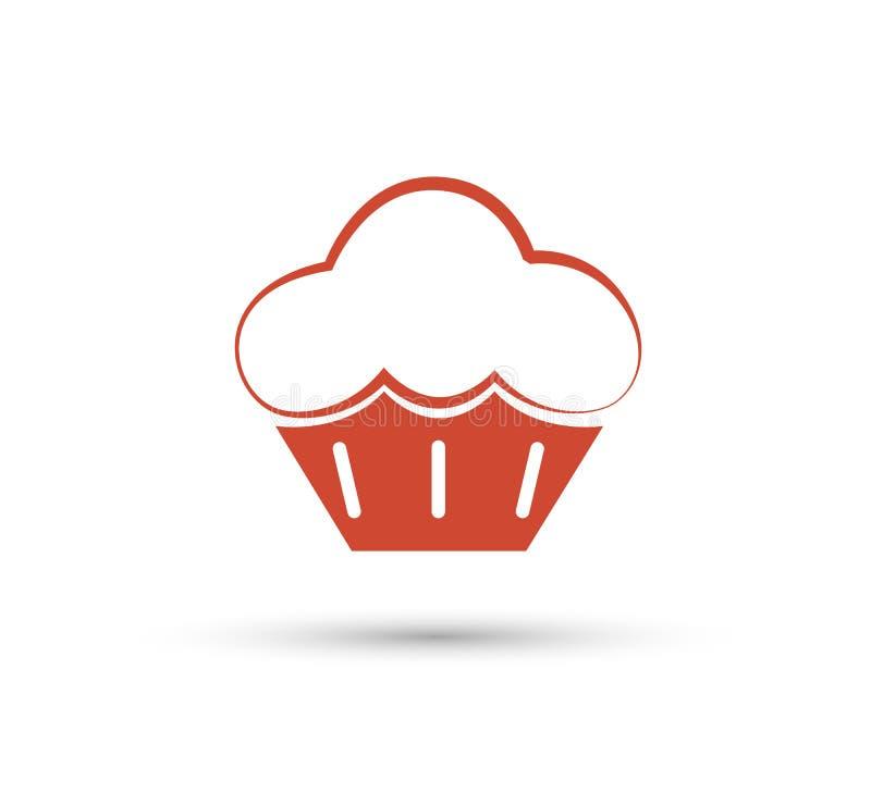 Einzigartige Kuchen- und Logoschablone Vektor editable Bäckerei, Fahne lizenzfreie abbildung