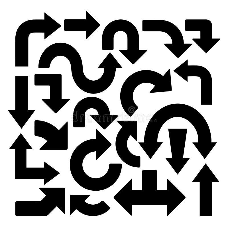 21 einzigartige Pfeile in den verschiedenen Formen vektor abbildung