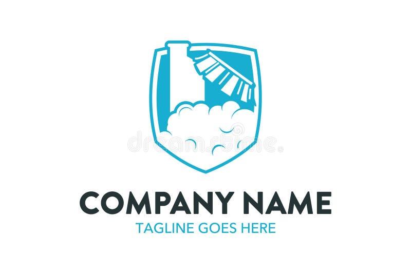 Einzigartige Reinigungs- und Wartungsservice-Logoschablone lizenzfreie abbildung