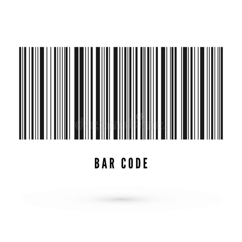 Einzigartige Strichkodeschablone Informationen über Produkt Vektorabbildung getrennt auf wei?em Hintergrund stock abbildung