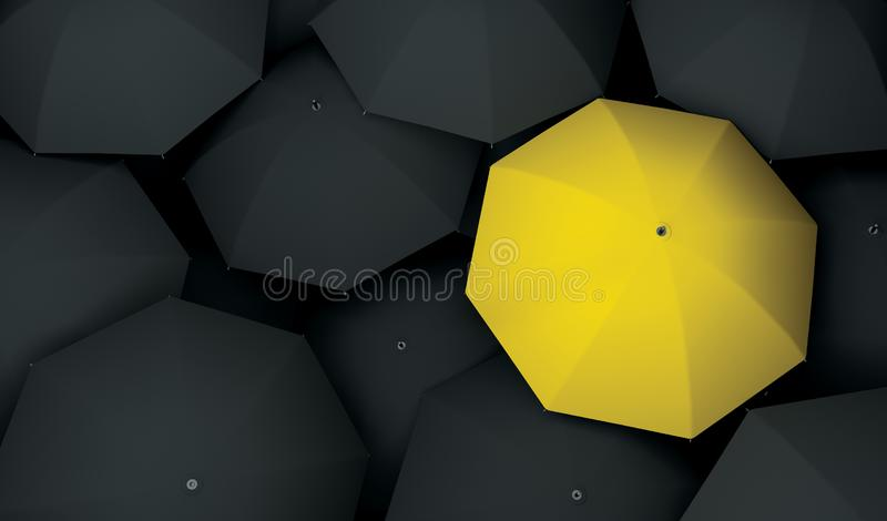 Einzigartige unterschiedliche des Regenschirmes sondern aus lizenzfreie stockfotos