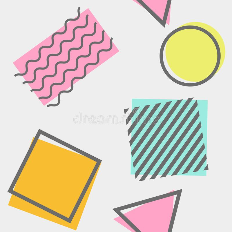 Einzigartige Weinlese nahtloser Memphis Background Abstract Pattern vektor abbildung