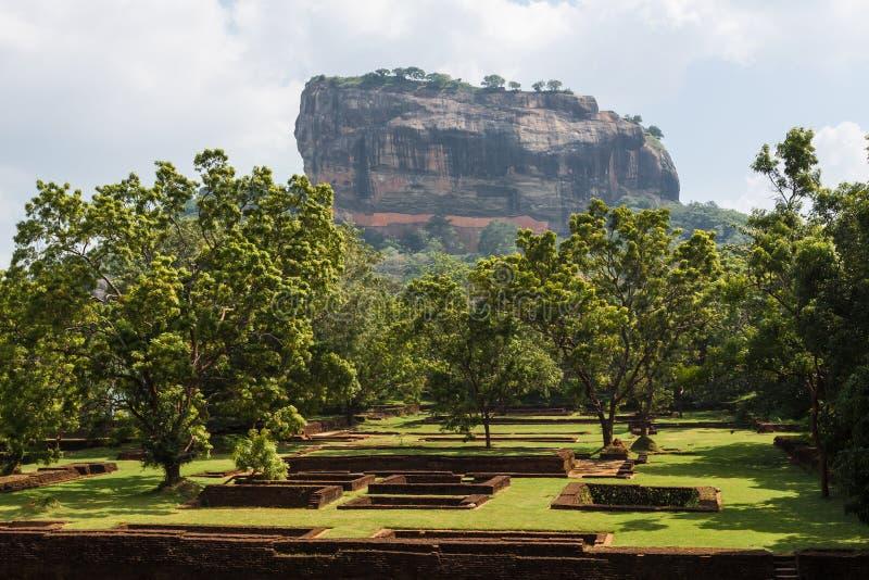 Einzigartiger Lion Rock in Sigiriya, Sri Lanka stockfotografie