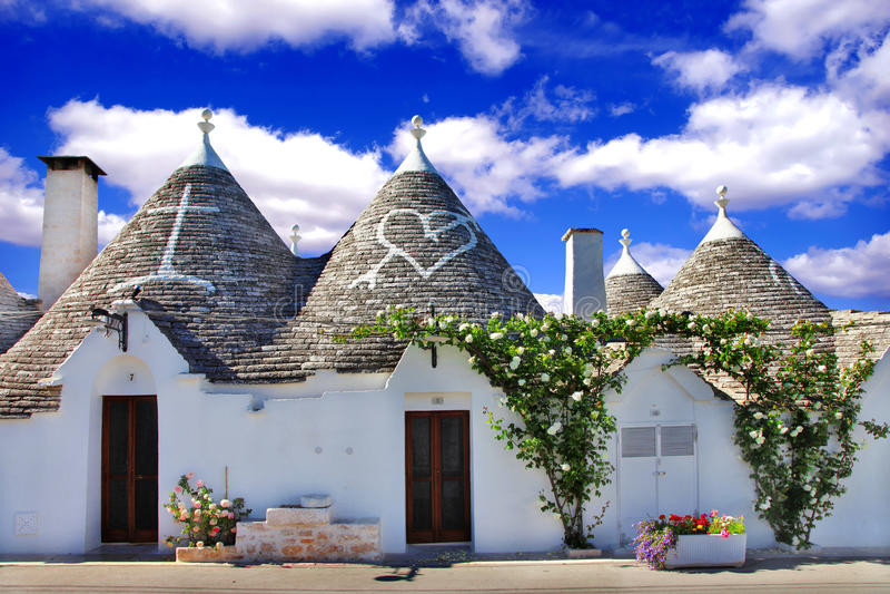 Einzigartiges Alberobello lizenzfreie stockfotografie