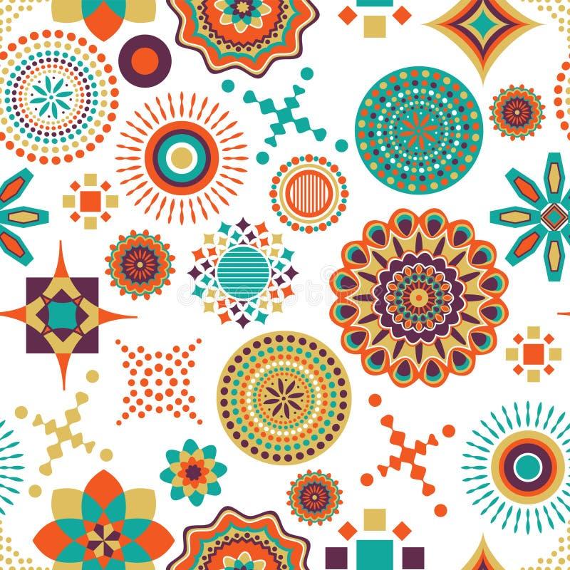 Einzigartiges Design des afrikanischen multi Musters stock abbildung
