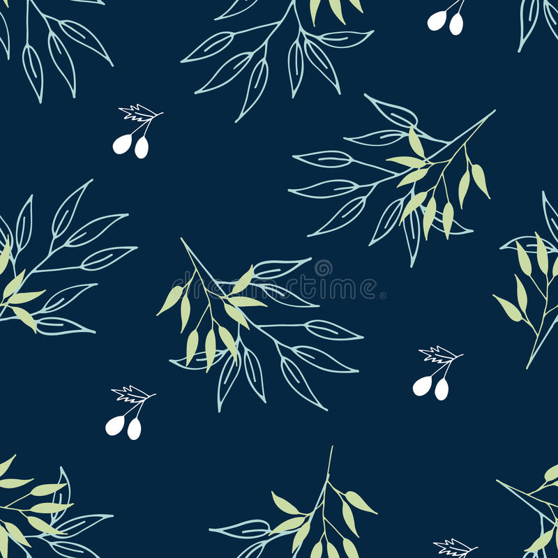 Einzigartiges handdrawn nahtloses mit Blumenmuster Gut für Tapete, Musterfüllen, Webseitenhintergrund, Oberflächenbeschaffenheite stock abbildung