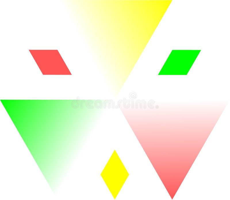 Einzigartiges kreisförmiges dreieckiges Logo stockfoto