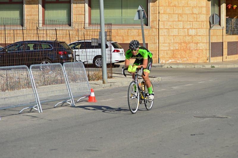 Einziger Zyklus-Rennläufer stockfotos