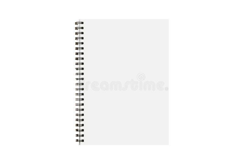 Einziges Notebook-Papier mit leerer Seite für Notiz-Memo-Nachricht auf weißem Hintergrund mit Clipping-Pfad stockbild