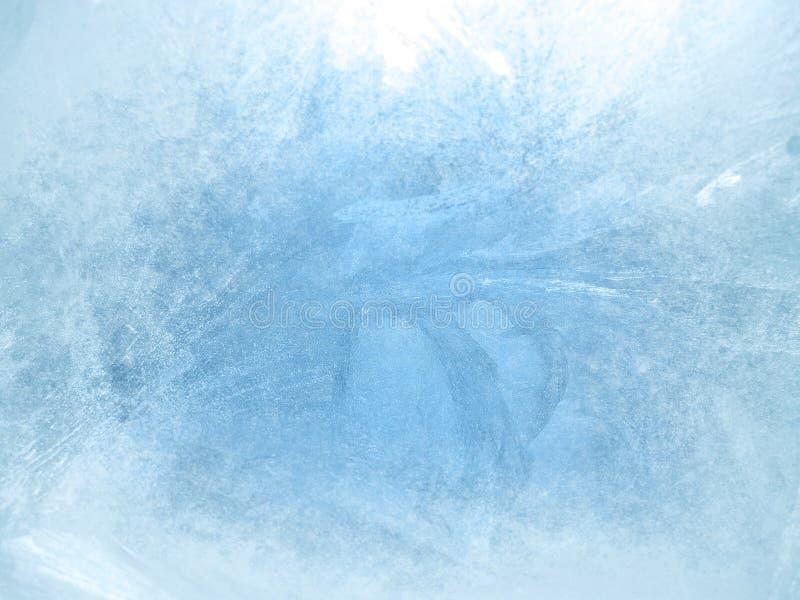 Eis auf einem Fenster, Hintergrund lizenzfreie stockfotografie