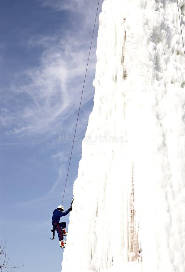 Eis-Bergsteiger lizenzfreie stockfotografie