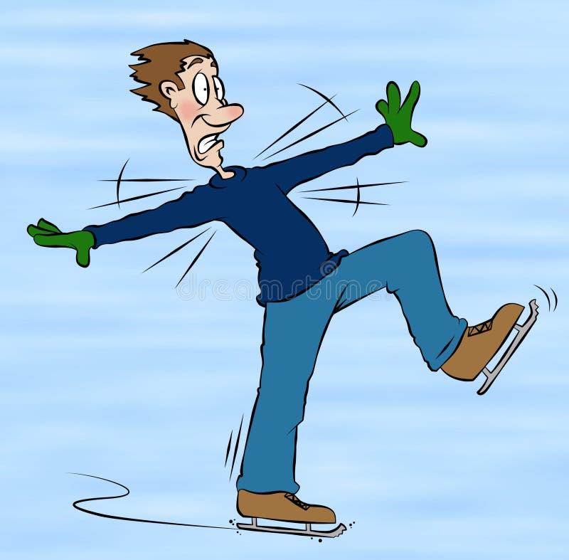 Eis-Eislauf-Karikatur lizenzfreie abbildung